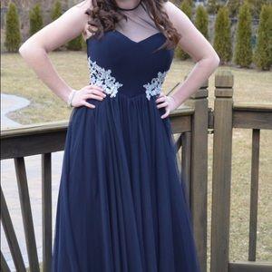 Formal Prom Dress size 5 Navy Blue